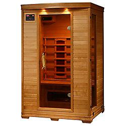 Radiant Sauna en pruche infrarouge De luxe pour 2 personnes avec 5 radiateurs en céramique