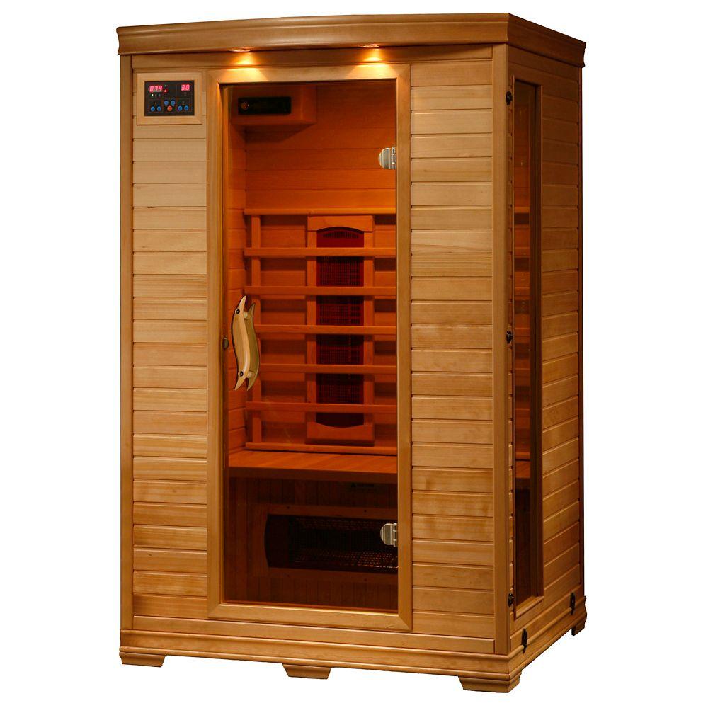 Sauna infrarouge Hemlock deux places à cinq éléments chauffants de céramique