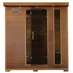 Radiant Sauna en cèdre infrarouge pour 4 personnes avec 9 radiateurs en carbone