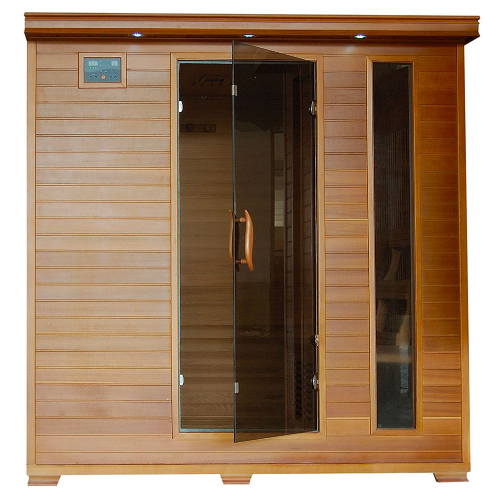 6-Person Cedar Infrared Sauna with 10 Carbon Heaters