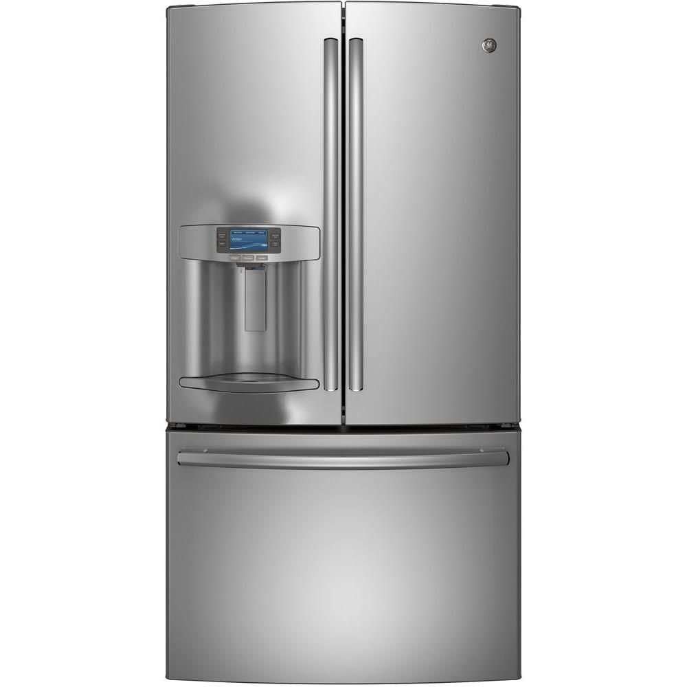 22.1 cu. ft. Bottom-Mount French Door Refrigerator with Ice and Water in Stainless Steel