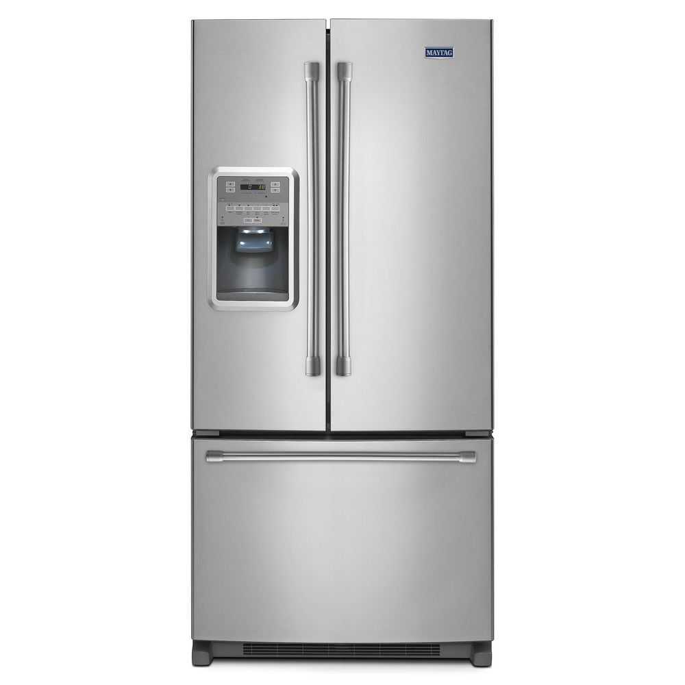 Maytag 21 7 Cu Ft French Door Refrigerator With Wash N