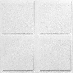 Luna Pedestal IV R72716 Acoustical Ceiling Tiles, 2 Feet x 2 Feet x 3/4 Inch, Shadowline Tapered Edge