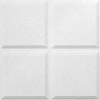 Luna Pedestal IV R72716 Acoustical Ceiling Tiles, 2  Feet x 2  Feet x 3/4  Inch, Shadowline Taper...