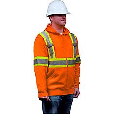 Veste à Capuchon En Molleton De Haute Visibilité Orange 3TGrand