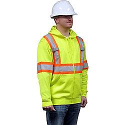 Storm Fighter Hooded Fleece Sweatshirt Green Medium