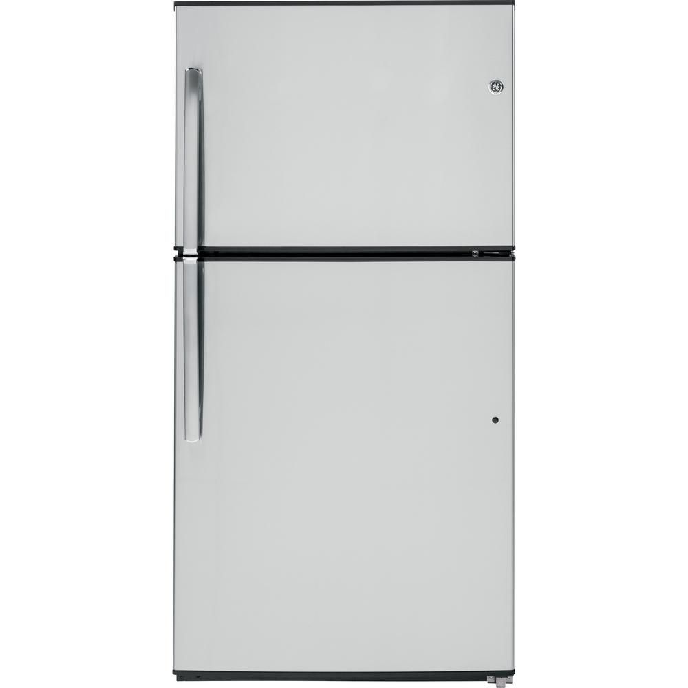 21.2 cu. ft. Top Freezer No-Frost Refrigerator in Stainless Steel