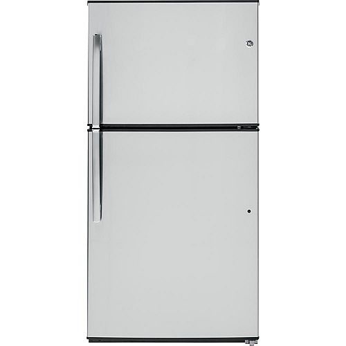 GE 33-inch W 21.2 cu. ft. Top Freezer Refrigerator in Stainless Steel - ENERGY STAR®