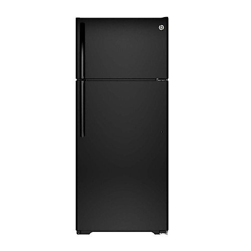 "28"""" 17.5 cu. ft. top Freezer Refrigerator in Black - ENERGY STAR®"