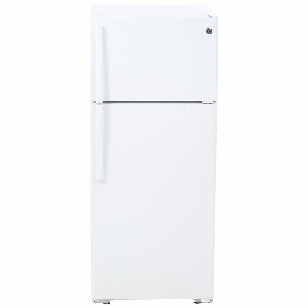 "GE 28"" 17.5 cu. ft. top Freezer Refrigerator in White"