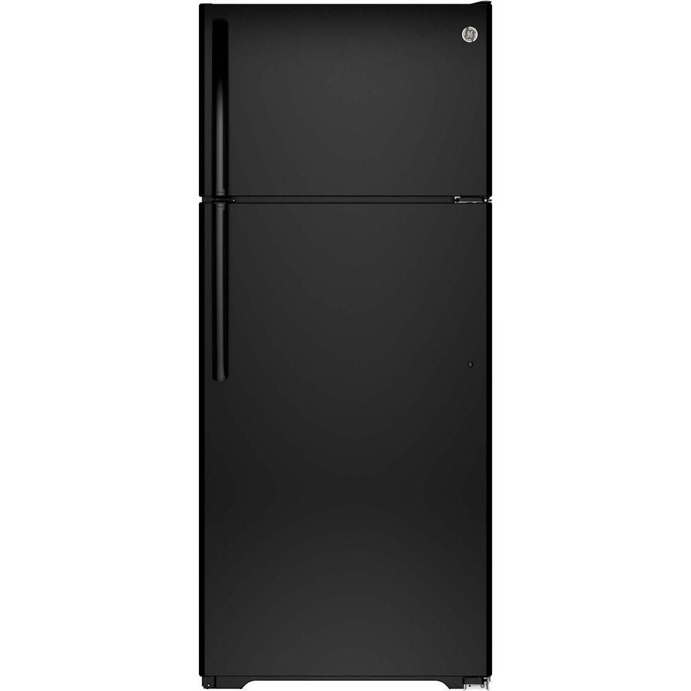 17.5 cu. ft. Frost-Free Top Freezer Refrigerator in Black