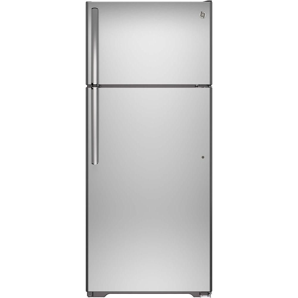 17.5 cu. ft. Frost-Free Top Freezer Refrigerator in Stainless Steel