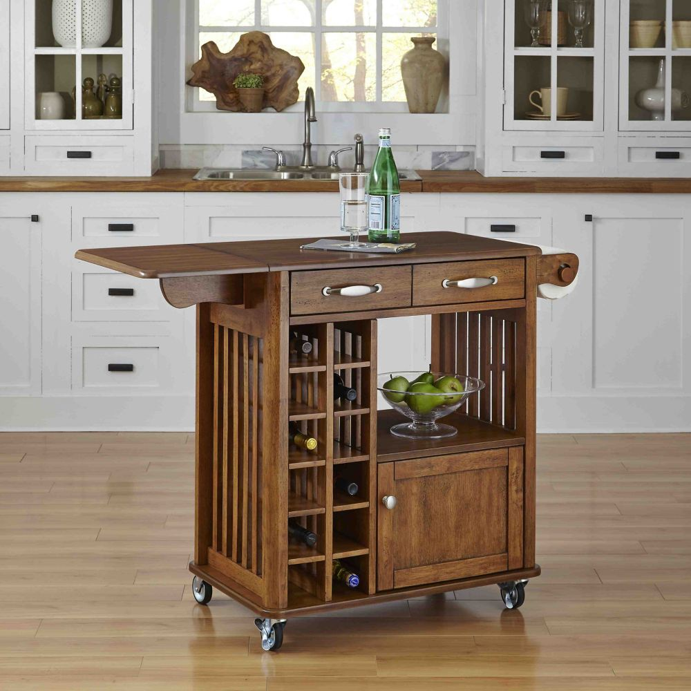 Home Styles Danville Kitchen Cart Oak Finish The Home Depot Canada