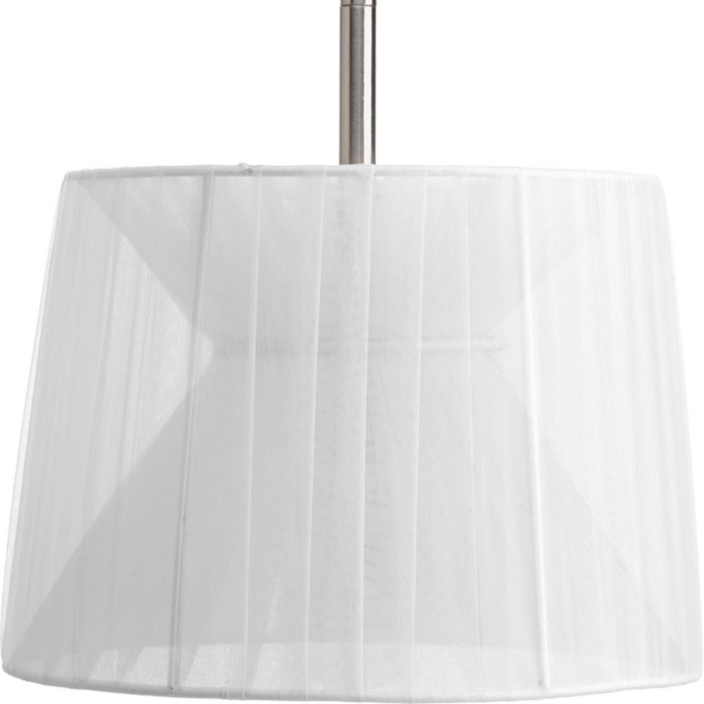 Progress Lighting Markor Collection Silver Chiffon Accessory Shade
