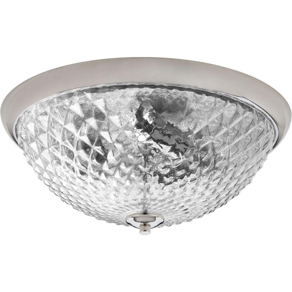 Entice Collection 3-Light Polished Nickel Flushmount