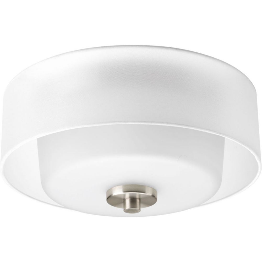 Invite Collection 2-Light Brushed Nickel Flushmount