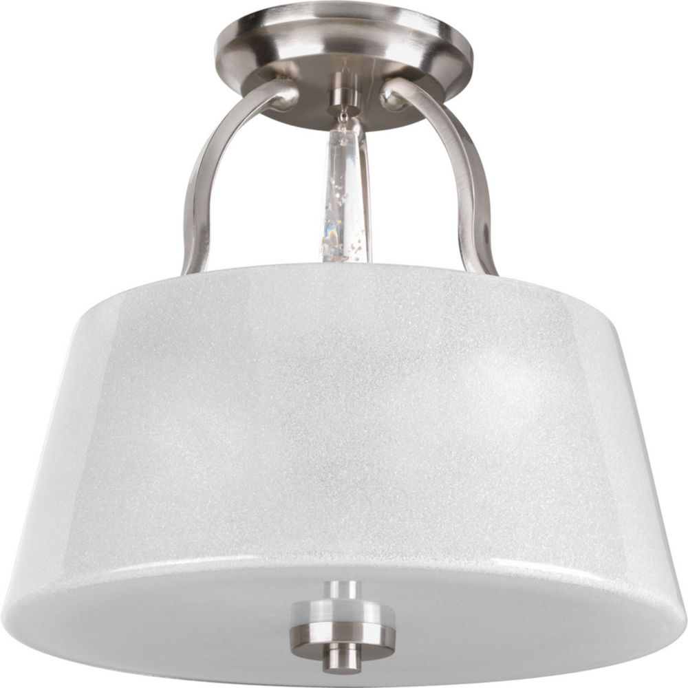 Progress Lighting Dazzle Collection 3-Light Brushed Nickel Semi-Flushmount