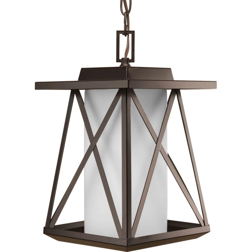 Lanterne suspendue à 1 Lumière, Collection Scope - fini Bronze à l'Ancienne