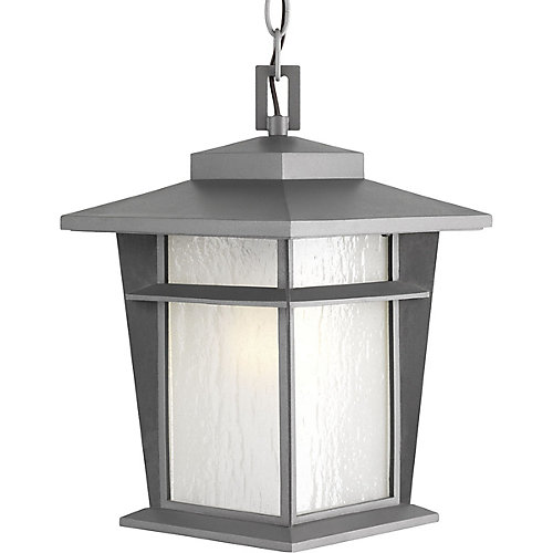 Loyal Collection 1-Light Textured Graphite Hanging Lantern