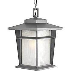 Collection Loyal - Lanterne de suspension en granite clair à texture légère