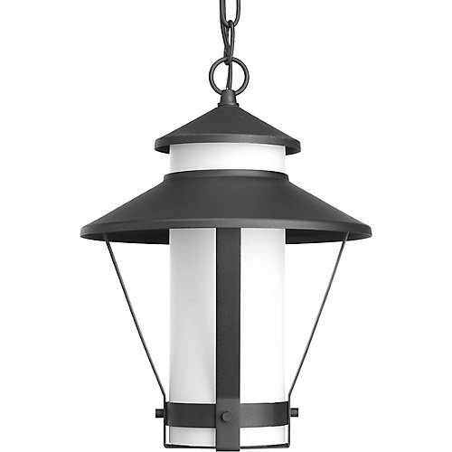 Via Collection 1-Light Black Hanging Lantern