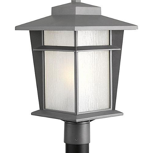 Collection Loyal - Lampadaire fluorescent en granite clair à texture légère