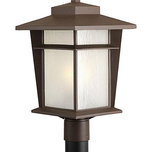 Fluorescente de Lampadaire à 1 Lumière, Collection Loyal - fini Bronze à l'Ancienne