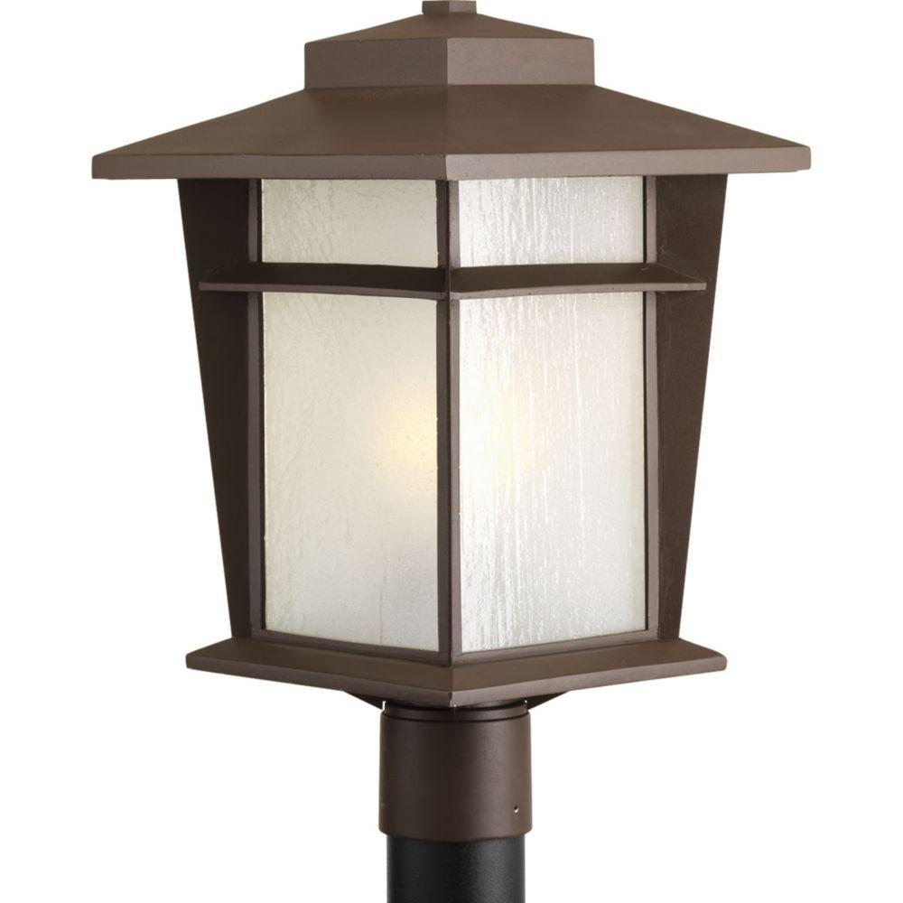 Loyal Collection 1-Light Antique Bronze Fluorescent Post Lantern