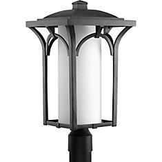 Fluorescente de Lampadaire à 1 Lumière, Collection Promenade - fini Noir