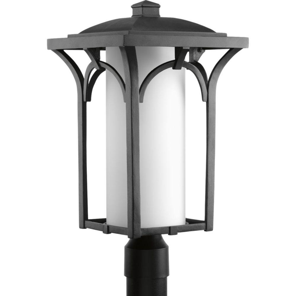 Promenade Collection 1-Light Black Fluorescent Post Lantern