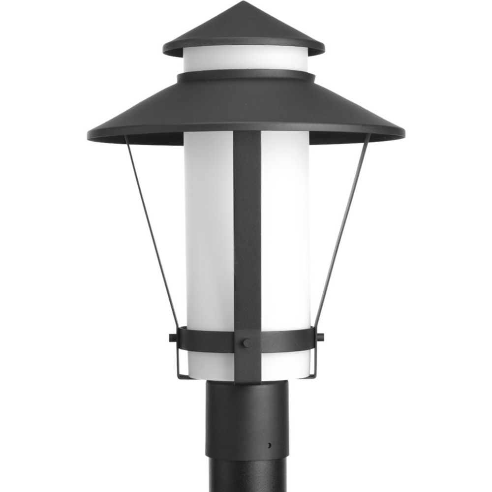 Via Collection 1-Light Black Fluorescent Post Lantern