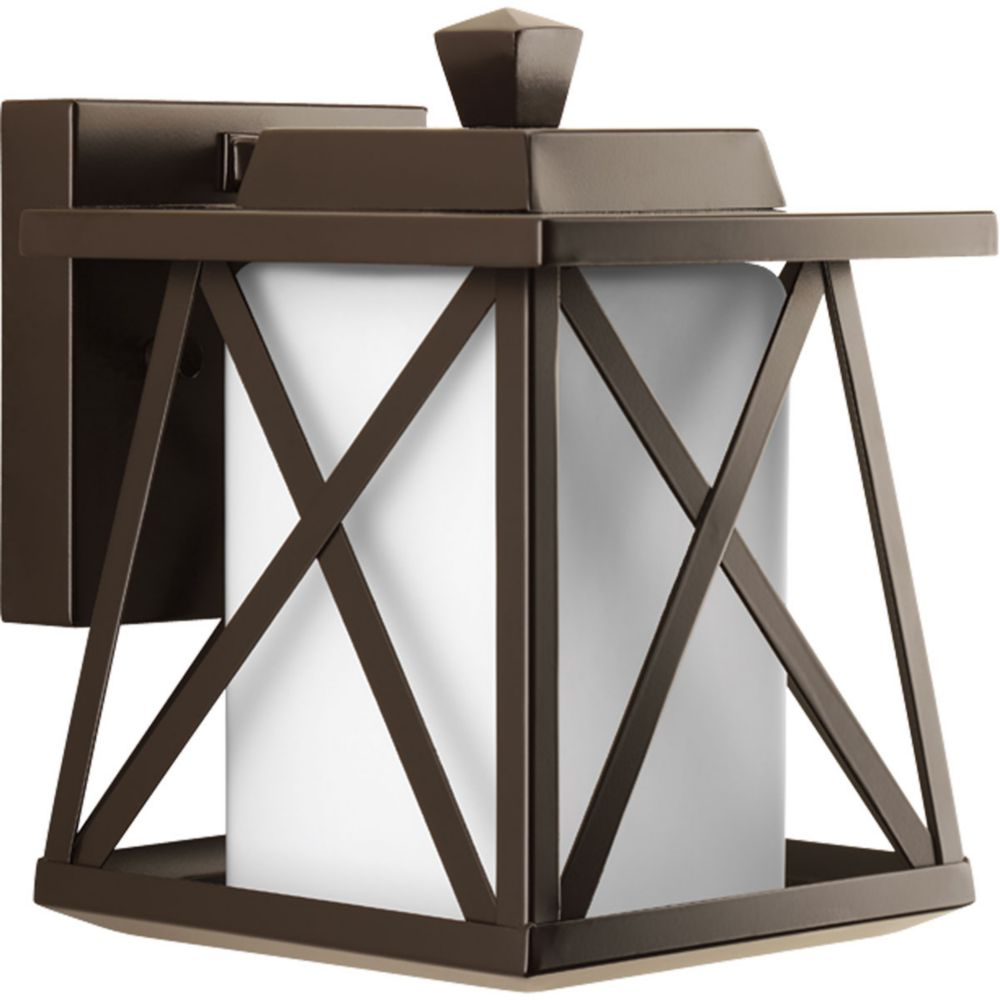 Scope Collection 1-Light Antique Bronze Wall Lantern