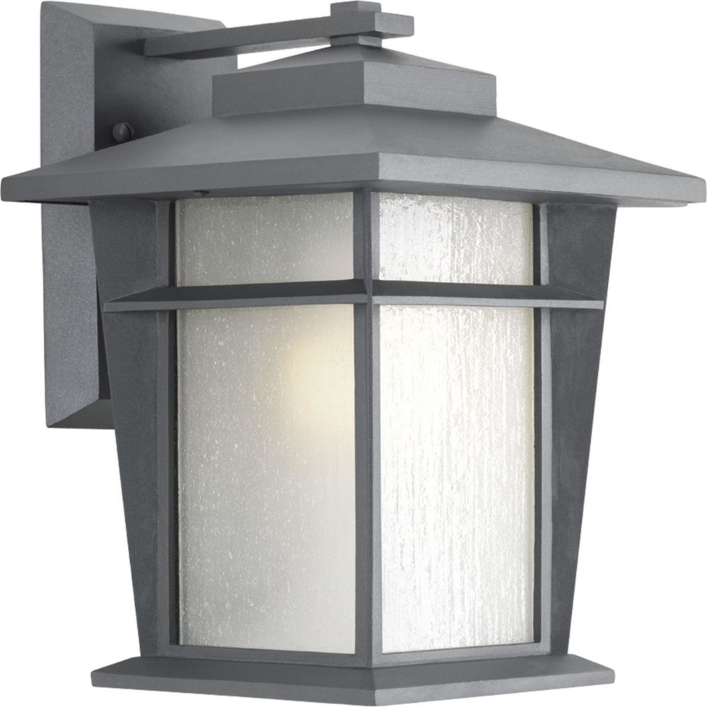 Loyal Collection 1-Light Textured Graphite Wall Lantern