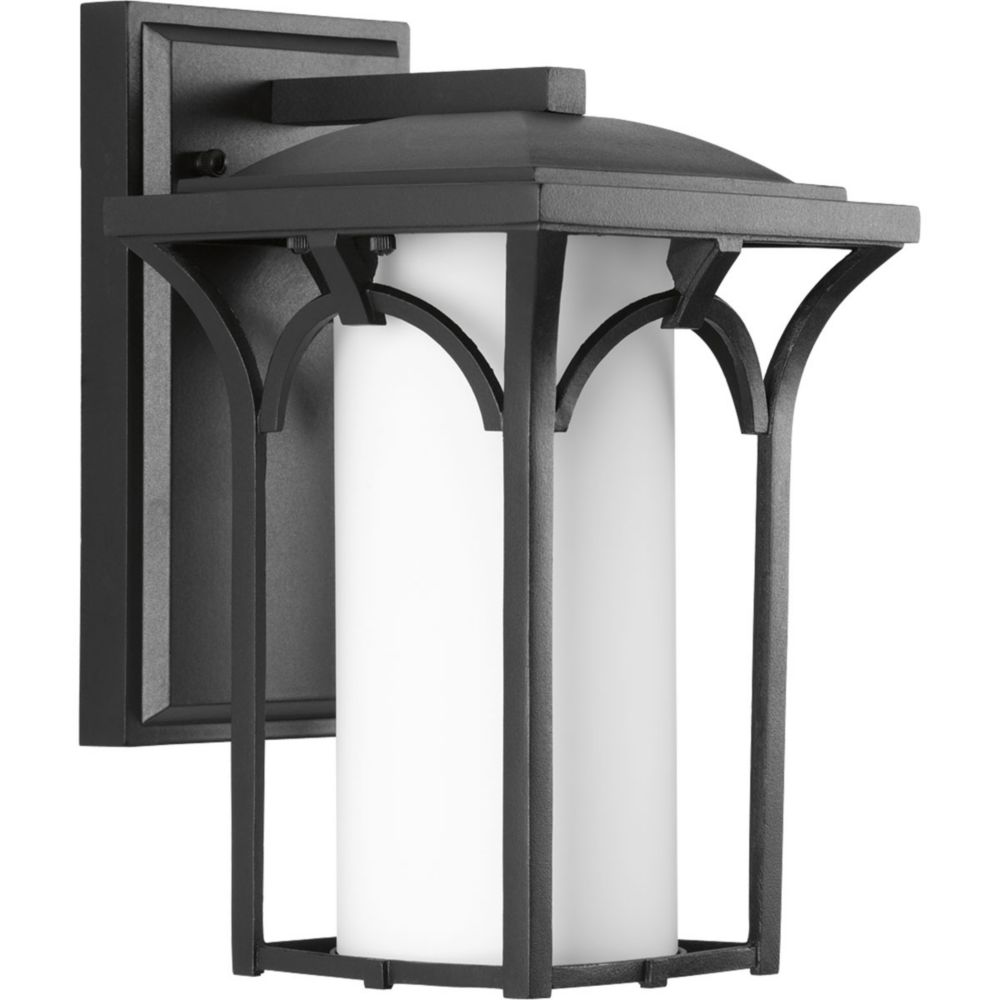 Promenade Collection 1-Light Black Wall Lantern