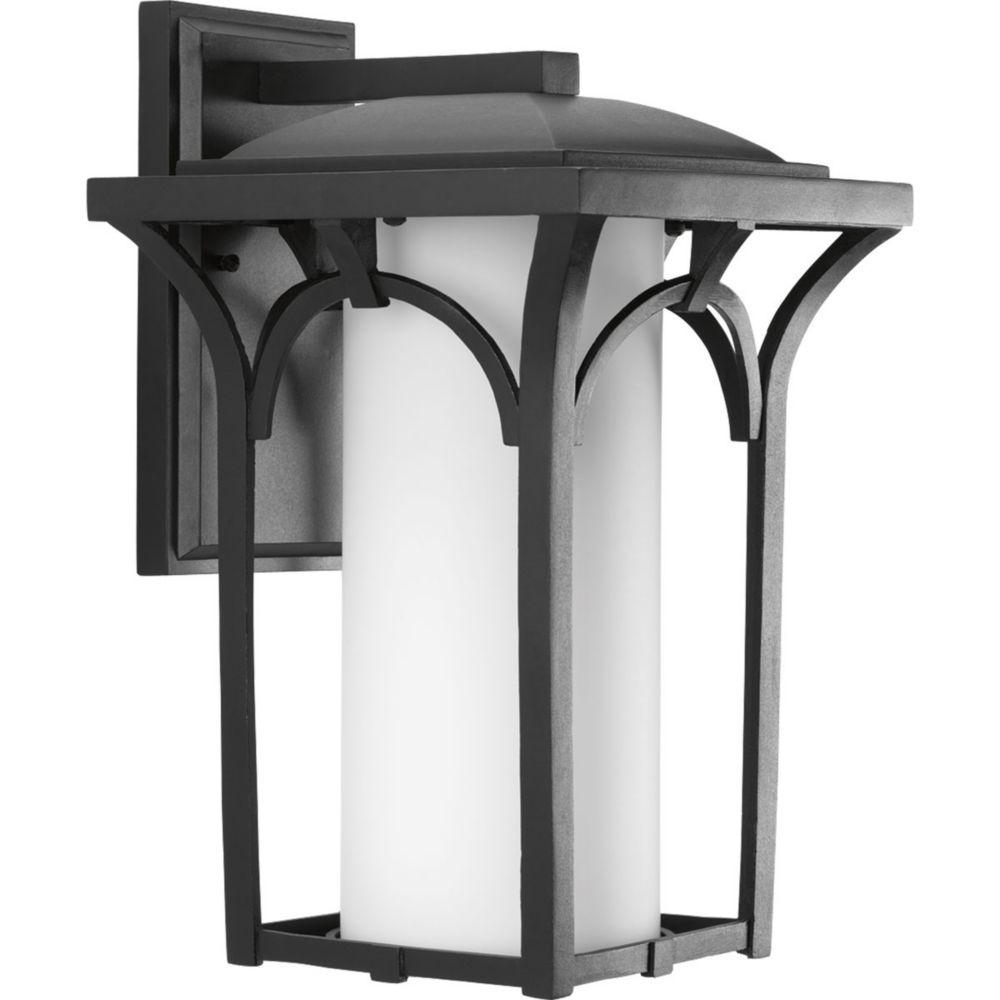 Promenade Collection 1-Light Black Wall Lantern