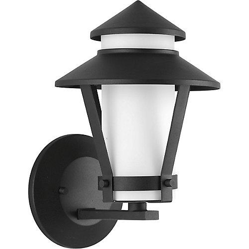Fluorescente de Lanterne murale à 1 Lumière, Collection Via - fini Noir