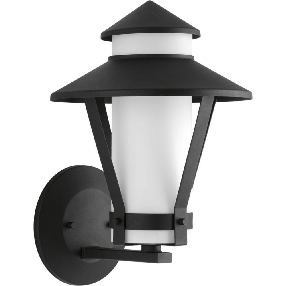 Via Collection 1-Light Black Wall Lantern