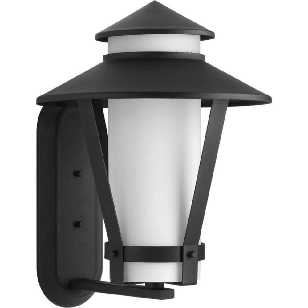 Via Collection 1-Light Black Wall Lantern