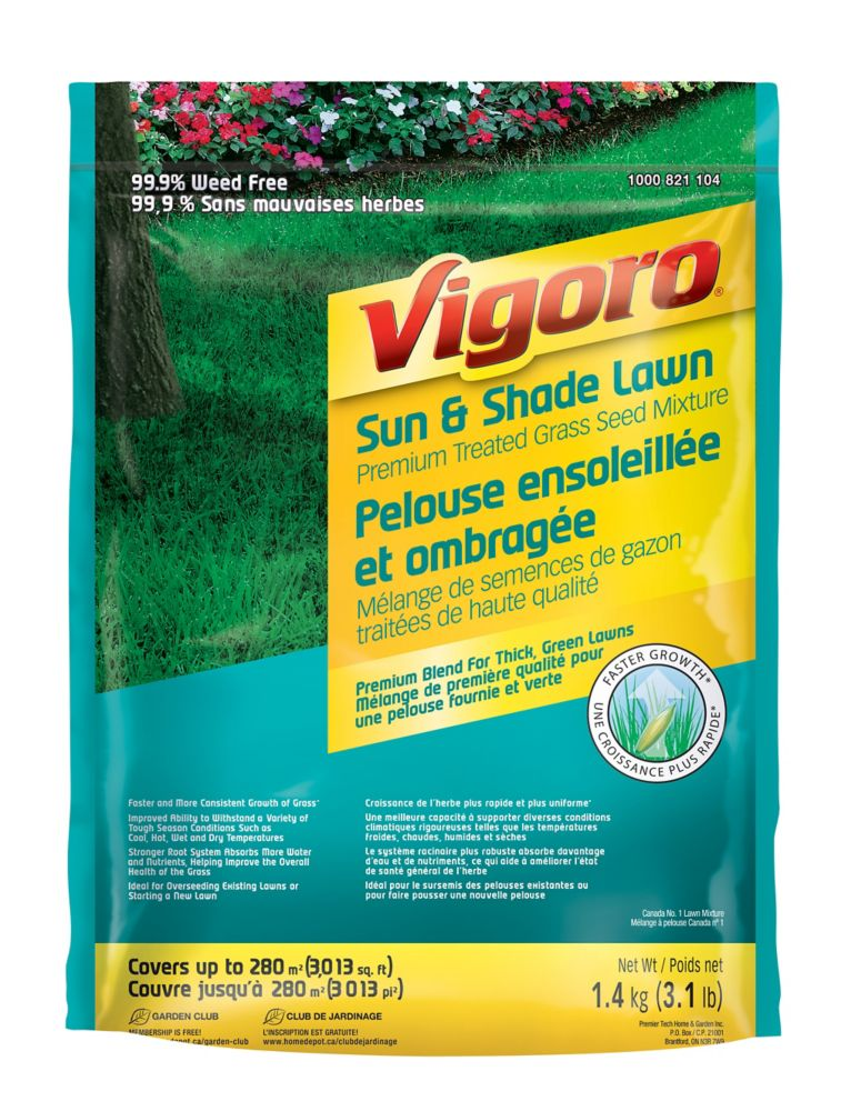Vigoro Premium Treated Sun & Shade Grass Seed Mix