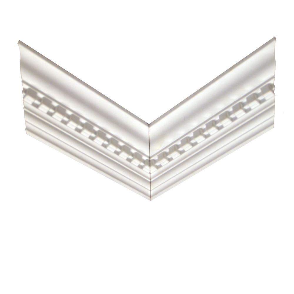 Polyurethane Reversible Dentil Crown Corner 11/16 Inch x 3-7/8 Inch x 12 Inch