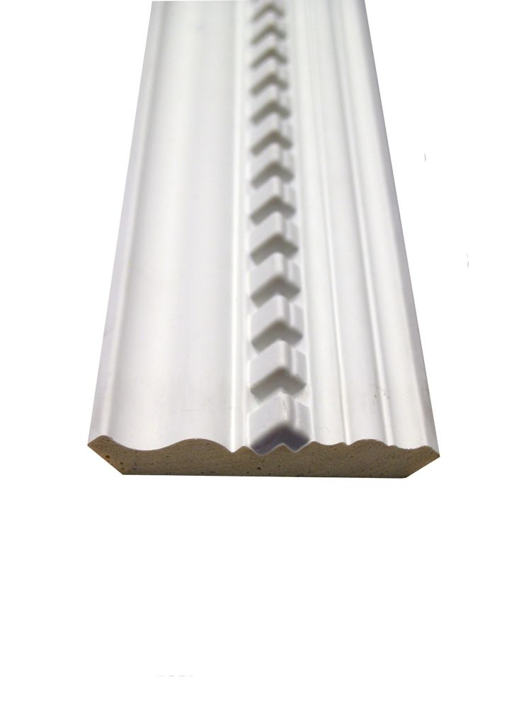 Polyurethane Dentil Crown 11/16 Inch x 3-7/8 Inch x 8 Feet