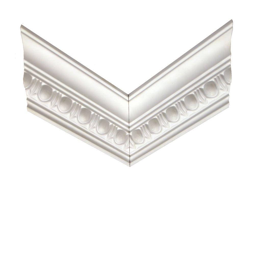 Polyurethane Reversible Egg & Dart Crown Corner 1 Inch x 4-3/16 Inch x 12 Inch