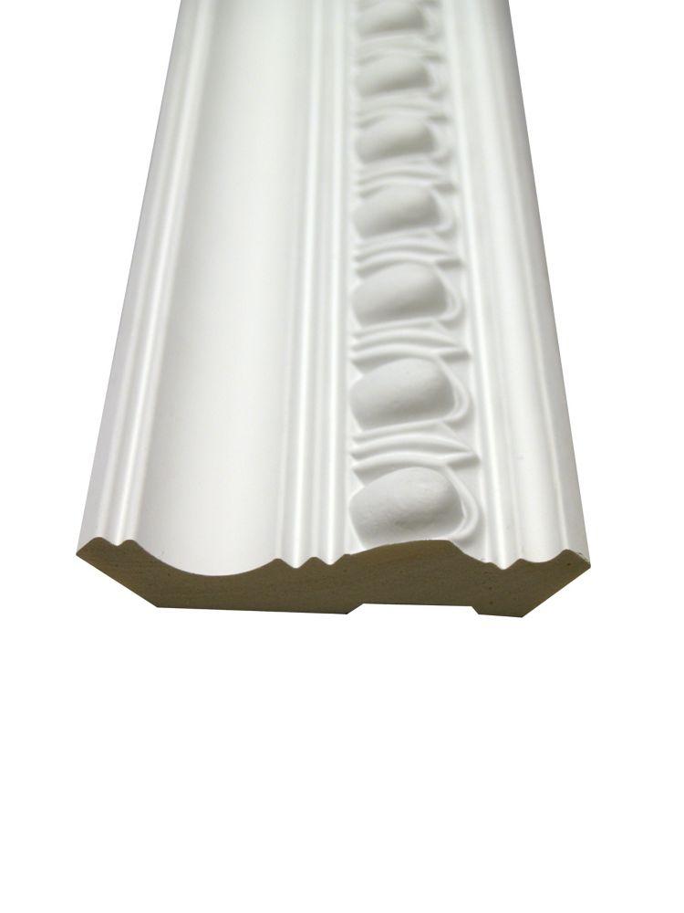 Polyurethane Reversible Egg & Dart Crown 1 Inch x 4-3/16 Inch x 8 Feet