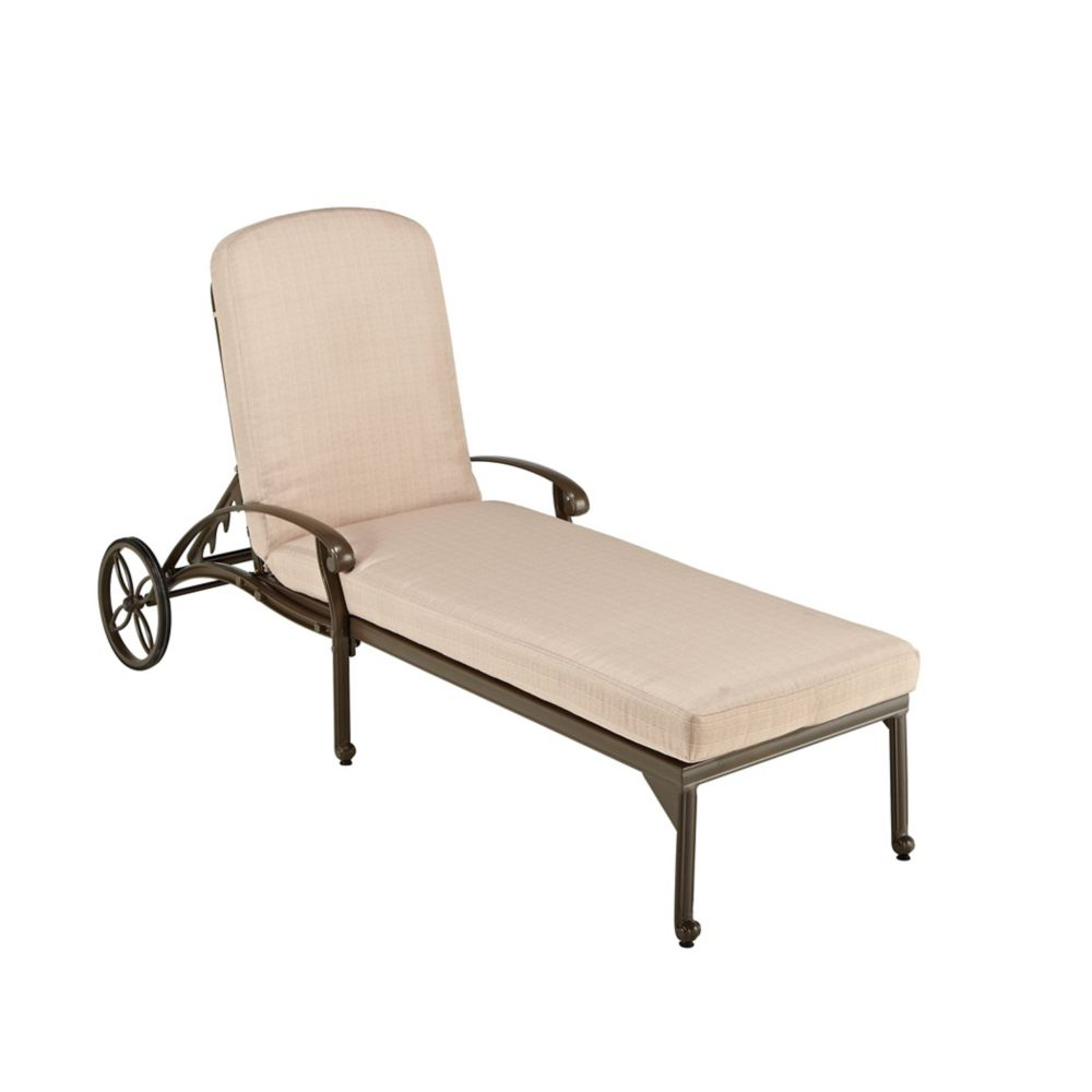 Taupe Chaise Lounge Chair
