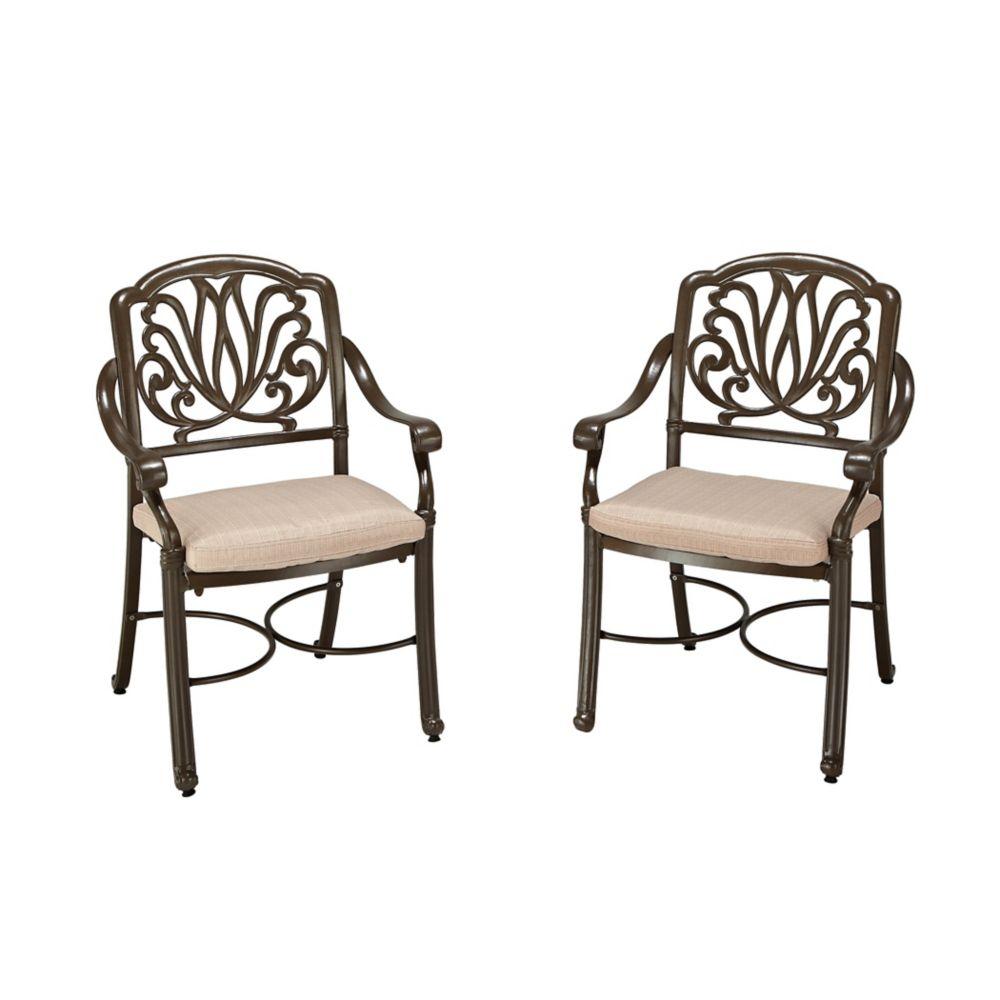 Paire de fauteuils taupes