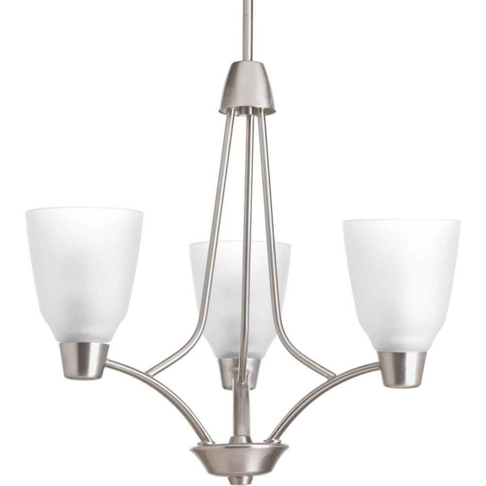 Asset Collection 3-light Brushed Nickel Chandelier