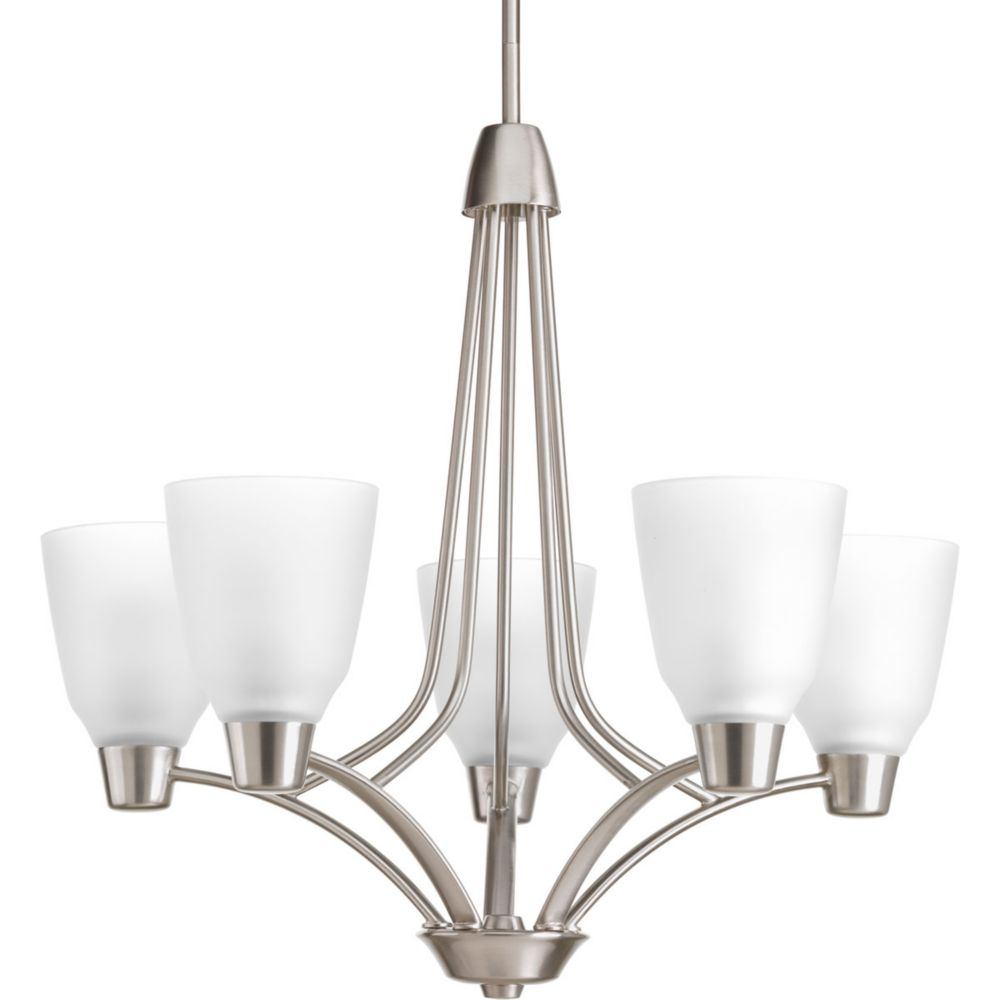 Asset Collection 5-light Brushed Nickel Chandelier