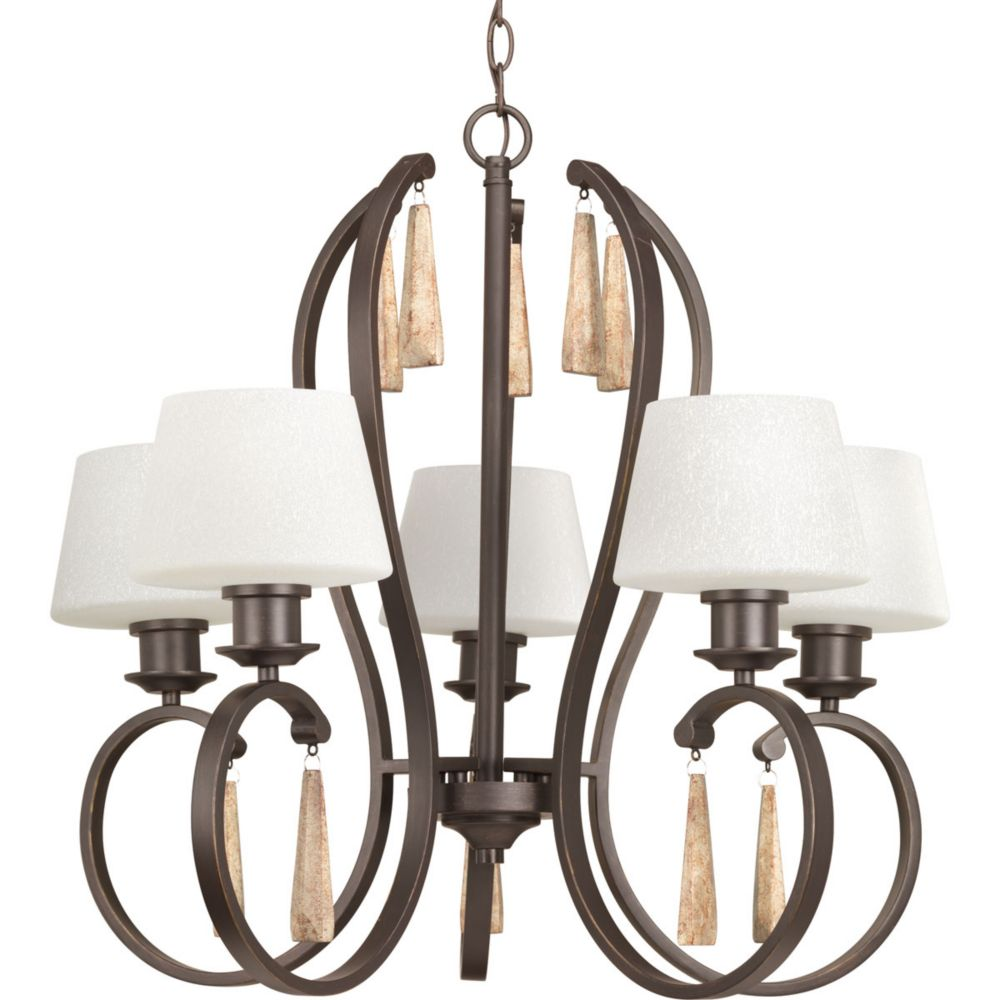 Progress Lighting Club Collection 5-Light Antique Bronze Chandelier