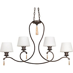 Progress Lighting Club Collection 4-Light Antique Bronze Chandelier