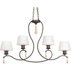 Progress Lighting Club Collection 4-Light Antique Bronze Chandelier
